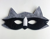 CHILD Felt Raccoon mask Halloween costume Photography prop