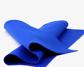 "100 Percent Wool Felt Sheet in Color ROYAL BLUE - 18"" X 18"" Wool Felt Sheet - Merino Wool Felt"