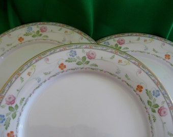 RARE 1970s Noritake Finale dinner plates Set of 3 Very Good