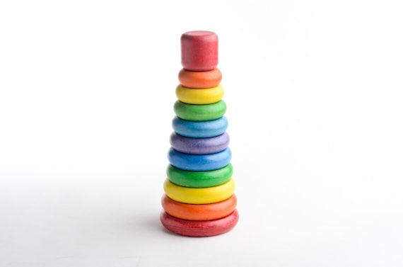 Stacking Rings Toy : Vintage wood stacking rings toy playskool wooden