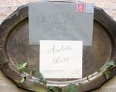 Script Wedding Invitation with Envelopes