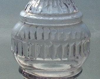 Origninal MINIATURE glass Vinegar Cruet for ANTIQUE child's DOLL house - Sun Colored Purple Glass