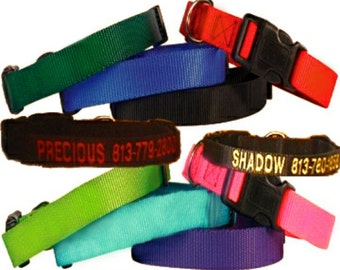 Embroidery ~ Dog Collars