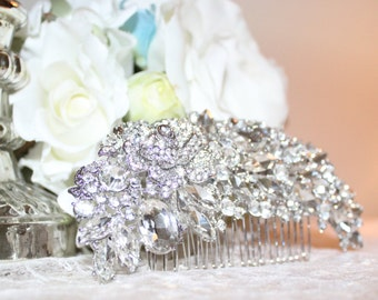 Rhinestone Bridal Comb Hair Piece