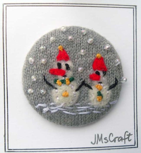 Handmade Felt Pin-back Badge/Brooch with Felt Picture by ...