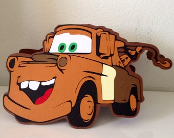 Tow Mater Cars invitation card