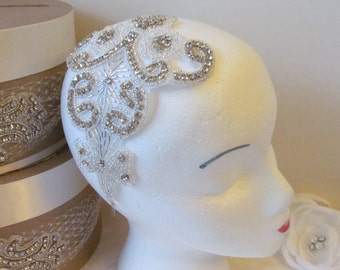 Bridal Headband /  Flower Headband  /  Feather Headpiece / The Whitney Headband w/out Feather Base