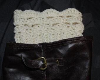 Crochet Scallop Boot Cuffs