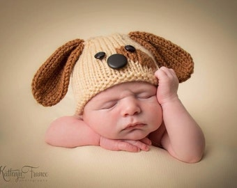 Newborn Puppy Hat Photography Prop, MADE TO ORDER
