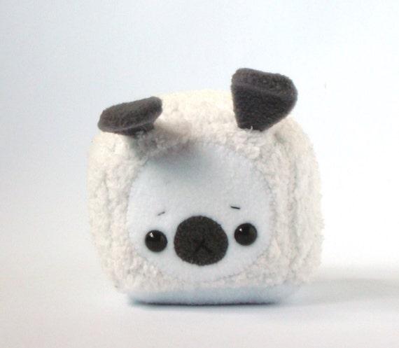 Squishy Bunny Etsy : Frankie the White Squishy Bunny Cube by Pwyllo on Etsy