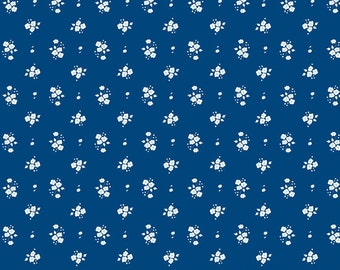 Floral Navy: Natalie Lymer - Enchant Collection 1/2 Yard Cut