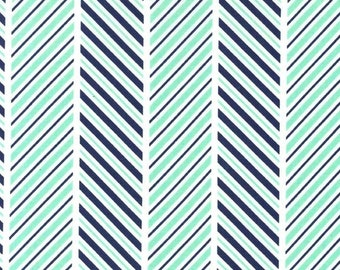 The Littles: Which Way Stripe Sprout - 1/2 Yard Cut