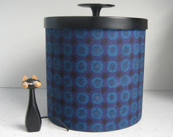 Vintage Laurids Lonborg Danish Modern Ice Bucket - Purple, Blue, Black, Mid Century Barware