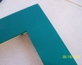 One 16x20 Made to Order Picture Frame ~ 1 1/2 inch Flat Profile ~ Solid color ~ Hand Painted ~ Choice of 36 Colors ~ Empress Teal