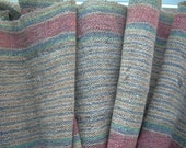 ANTIQUE roll linen and hemp weaved in a hand LOOM, stairrunner, tableway, wall hanging textile