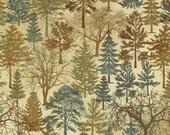 NC 39161 68 Stonehenge Wilderness Blue Spruce by Linda Ludovico for Northcott Fabrics