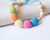 Multicolor Bright Nursing Necklace-Babywearing necklace for Mother and child-Breastfeeding Necklace-Teething Necklace for Baby and Mom