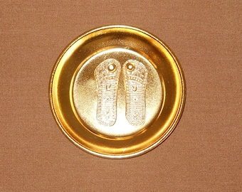 Temple Blessed Laxmi Paduka - Sacred Feet of Lakshmi Devi - Prosperity Wealth