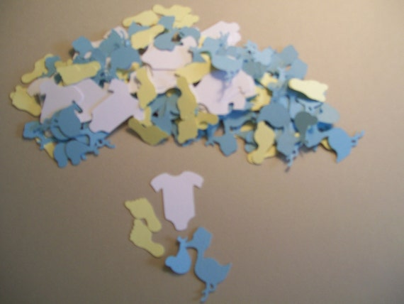 Baby boy shower confetti 150 pieces baby shower party for Baby shower decoration singapore