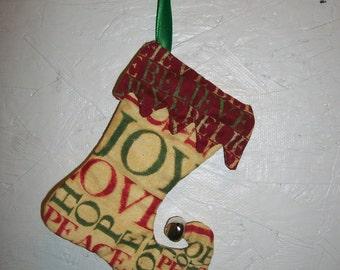 Elf stocking ornament