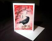4x6 Note Card - Riddles of Forgotten Lore, Blackbird, Scroll, Clockwork Bird