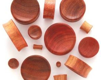 Pair of Concave Chang Wood Plugs