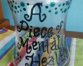 A Piece of Mental Health, social work, psychiatry, psychology, desk decoration, candy jar with cover