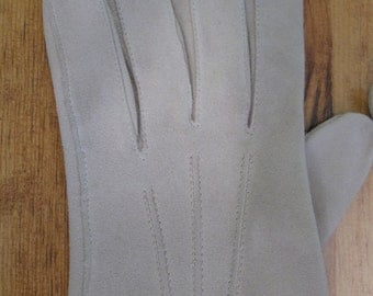 1960's Natural French Doeskin Gloves Simpsons Boxed Leather Suede Gloves