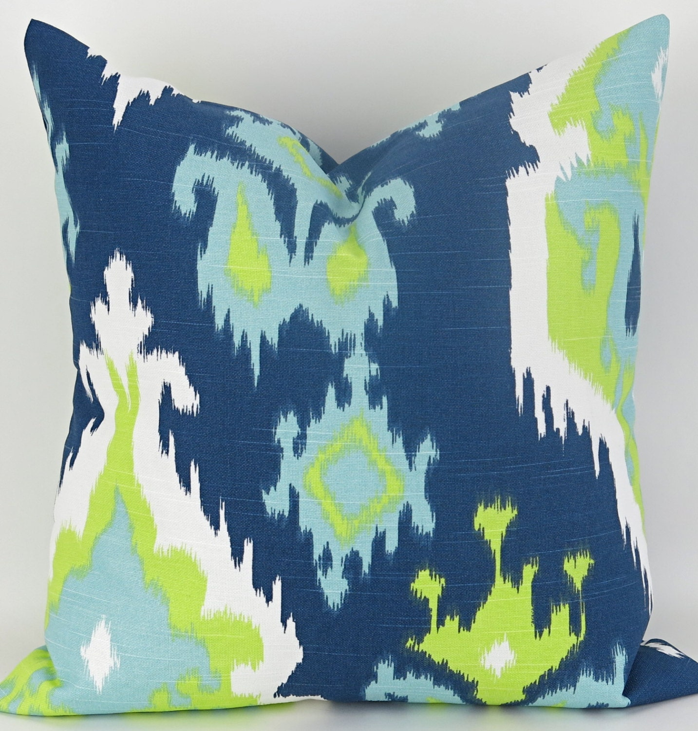 Navy & Green Floor Pillow up to 28x28 inch Big Navy Blue