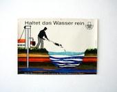 Striking 1960s Environmental Awareness vintage Poster/Advert - German DDR Educational