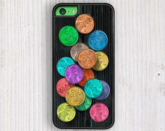 Super Pennies iPhone 5 Case, iPhone 6 case, iPhone 6 plus case, iPhone se cover, iPhone 7 case