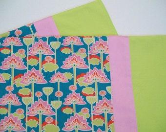 Organic Baby Blanket, Receiving Blanket, Stroller Blanket, Baby Blanket, Baby Girl, Lotus, Floral, Pink
