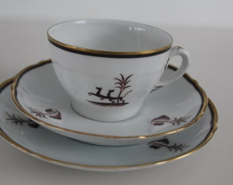"3 piece ""Diana"" coffee cup set by Arabia Finland"