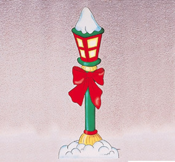 Christmas north pole street lamp wood outdoor yard by for Christmas decorations for outside lamp post