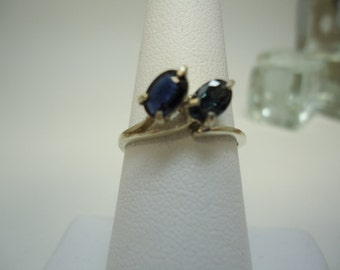 Oval Cut Sapphire Ring in Sterling Silver