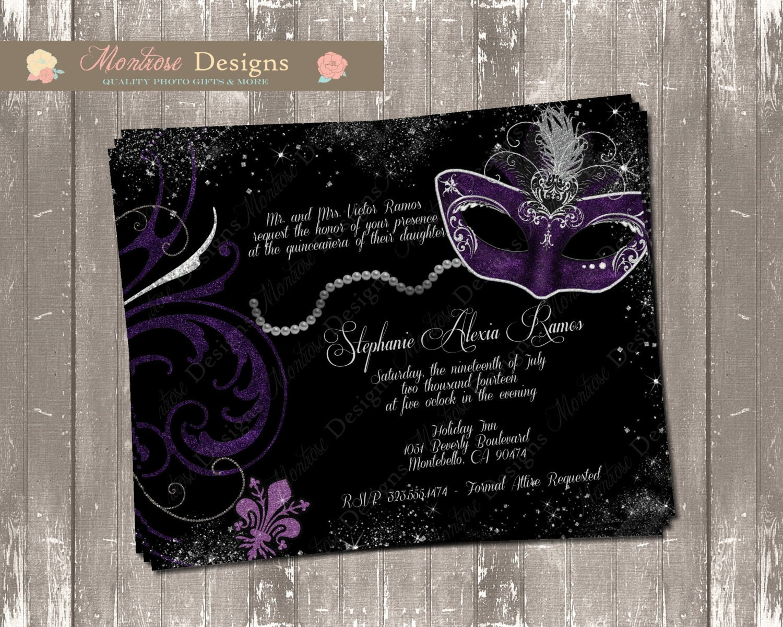 Elegant Masquerade Ball Quinceañera/Sweet 16 Invitation