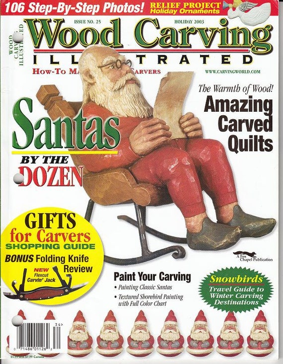 Wood Carving Illustrated Magazine Holiday 2003 Issue Wood