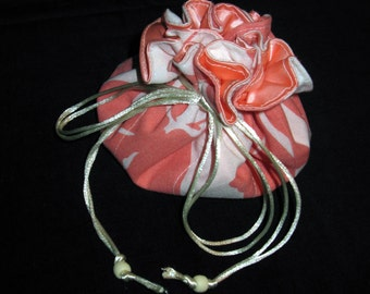 """Happy Trails Jewelry Pouch """"Sweet Apricot"""""""