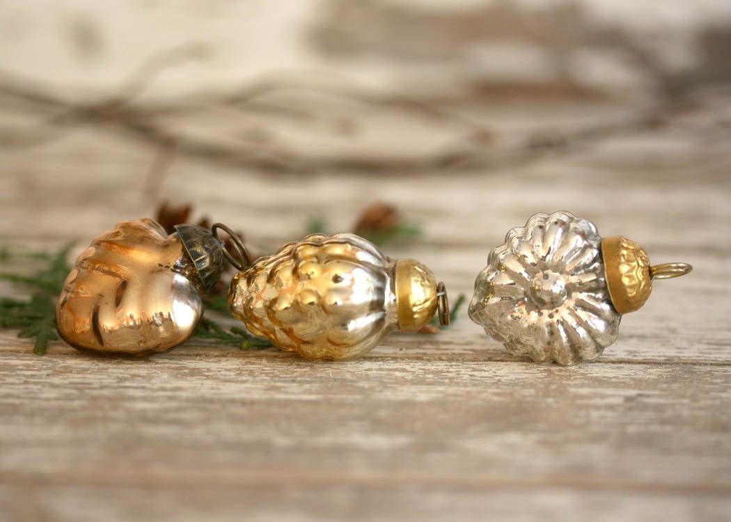 vintage miniature kugel christmas ornaments by