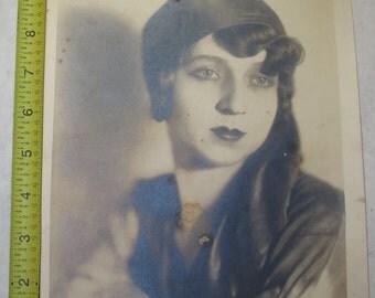 vintage b/w/ black and white photo photograph 1920s woman