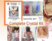 Complete Crystal Kit, How to Guide, Learn Crystal Healing De-Luxe Package - Includes 4 Hours of Crystal Sessions with Jelila