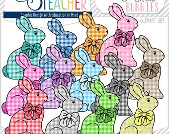 Sweet Picnic-Themed Easter Bunny Clip Art