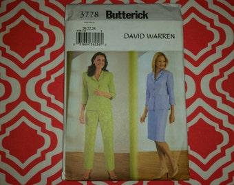 Butterick 3778 Sz 20, 22, 24 UNCUT