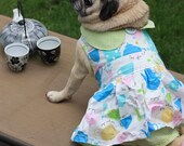 It's a Pug Party - Party  or Tea Time Dress