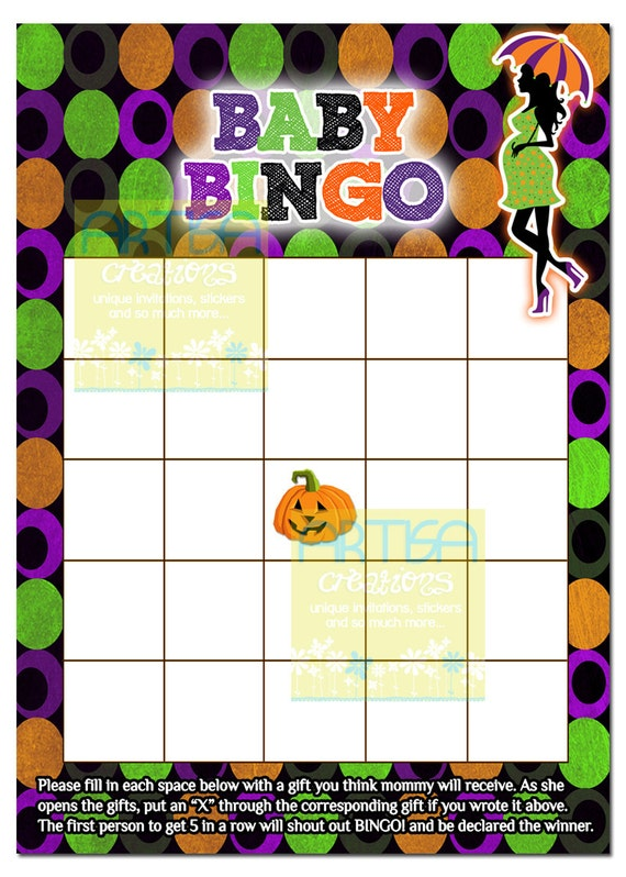 baby shower bingo halloween baby bingo baby shower halloween games