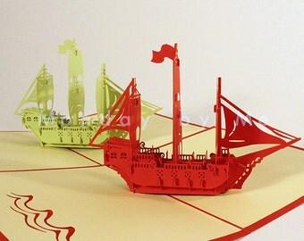 3D Popup Card Pirate ship