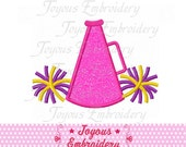 Instant Download Megaphone Pom   Applique Machine Embroidery Design NO:1423