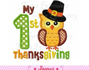 Instant Download My 1st Thanksgiving Applique Embroidery Design NO:1584