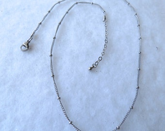 "18-20"" or New 32"" Silver Stainless Steel Ball Chain"