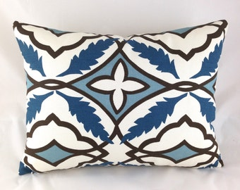 Lumbar Pillow Cover ANY SIZE Decorative Pillows Blue Pillow Premier Prints Eden Cadet